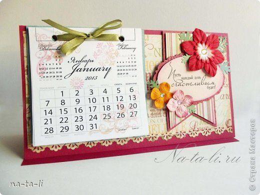 Скрапбукинг Новый год Ассамбляж Календарики настольные Бумага фото 1