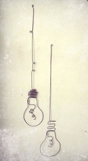 Wire art - light bulb