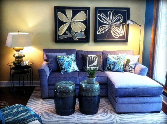 Gray Sectional And Drum Stools. Interior Design Omaha. Fluff Your Stuff.  Www.