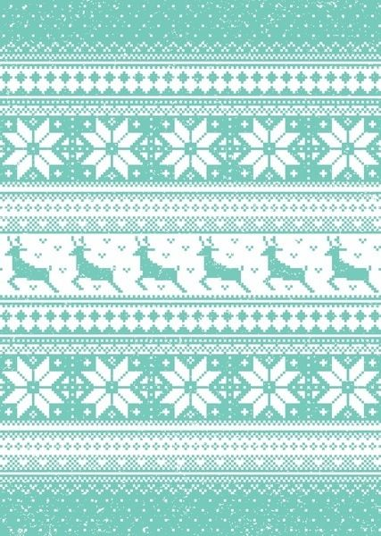 minty christmas pattern