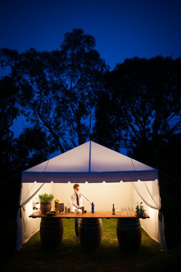 All lit up and ready to serve. Deluxe 4mx4m. www.tentluxuryhire.com.au