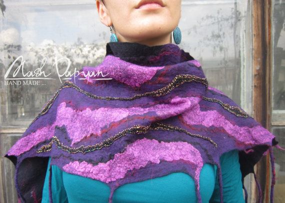 Felted Scarf   thousand and one night 100 by MashPapyanHandmade