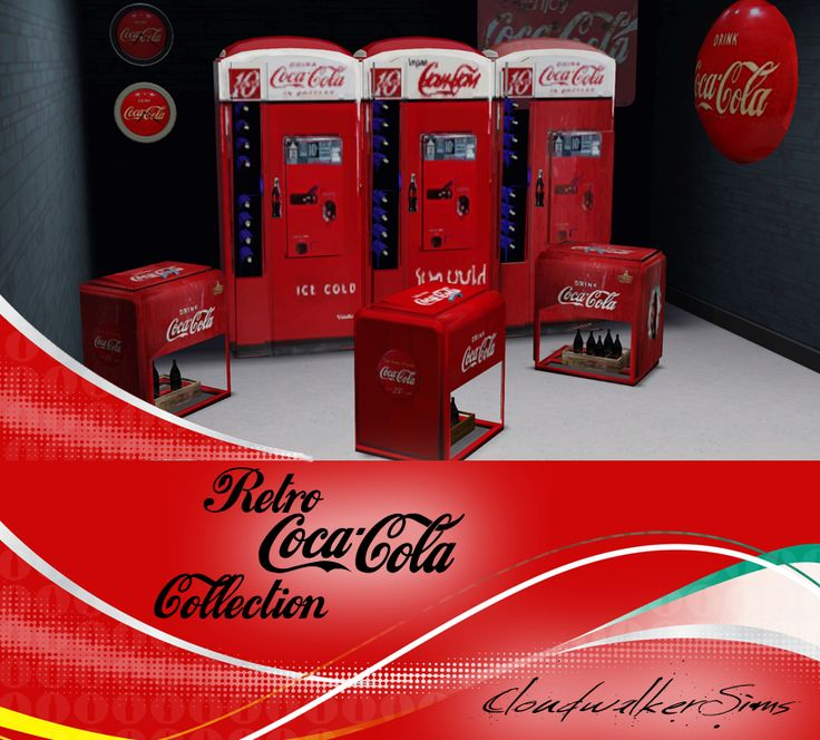 retro coca cola collection from cloudwalkersims free sims 3 content pinterest sims cc. Black Bedroom Furniture Sets. Home Design Ideas
