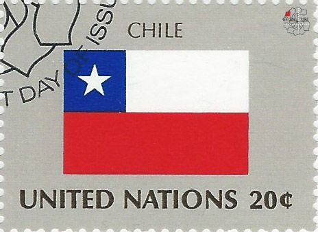 national flag on UN stamp: chile