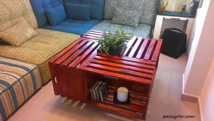 En pal y ol fabricamos nuestras propias cajas de fruta para hacer mesas de centro como esta - Mesas de pale ...