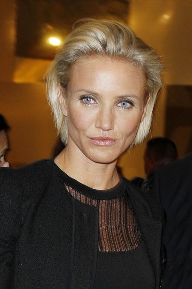 Cameron Diaz high fashion slicked-back style