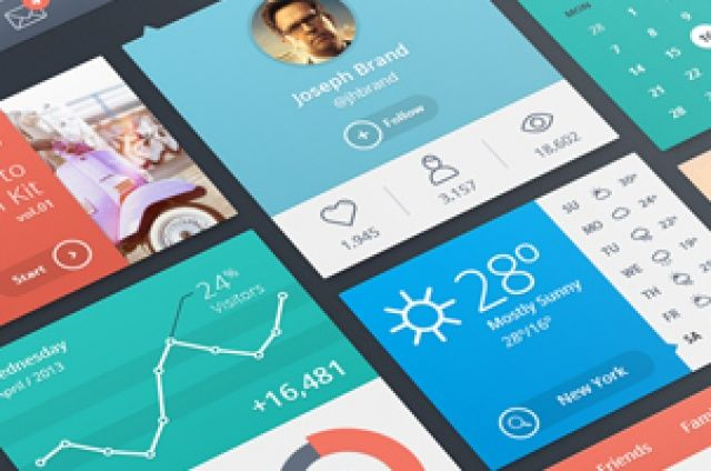 This is volume 1 of a series of flat UI design resources. Our flat design style is ideal for web app...