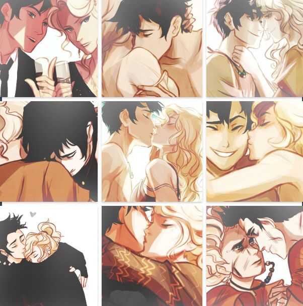 Percy and Annabeth drawings by Viria.