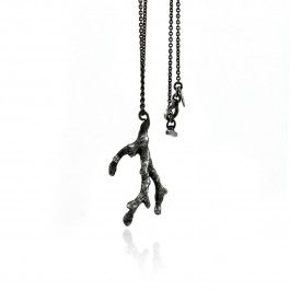 Precious Tree Necklace - Handcrafted Danish Design. Pernille Vinderskov's Precious Tree pendant in oxidised sterling silver is a beautiful and organic piece of art jewellery. The shape, reminiscent of branches or roots, is actually a cast of a tiny twig. With this necklace, Vinderskov has combined her love of industrial design with her love for nature to create a piece that is stylish and natural in form. http://www.nuuru.com/en/precious-tree-ox.html