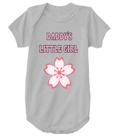 Daddy's   Little Girl Heather  T-Shirt Front