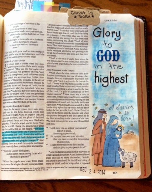 A Day in the life of a Country Mouse: Journaling Bible: Luke 2:11 A Savior Is Born!