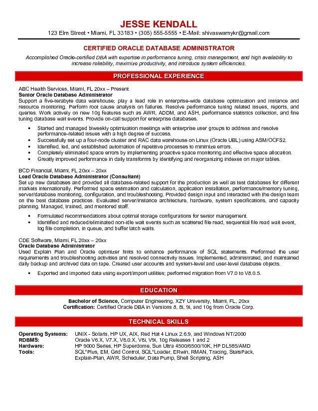 The 25+ best Job resume samples ideas on Pinterest Resume - it database administrator sample resume
