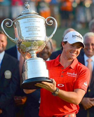 """Rory McIlroy is PGA's player of the year    Certainly well deserved for the year he had.    Tiger Woods was not awarded """"Comeback Player of the Year""""   I guess six million in earnings was not enough."""