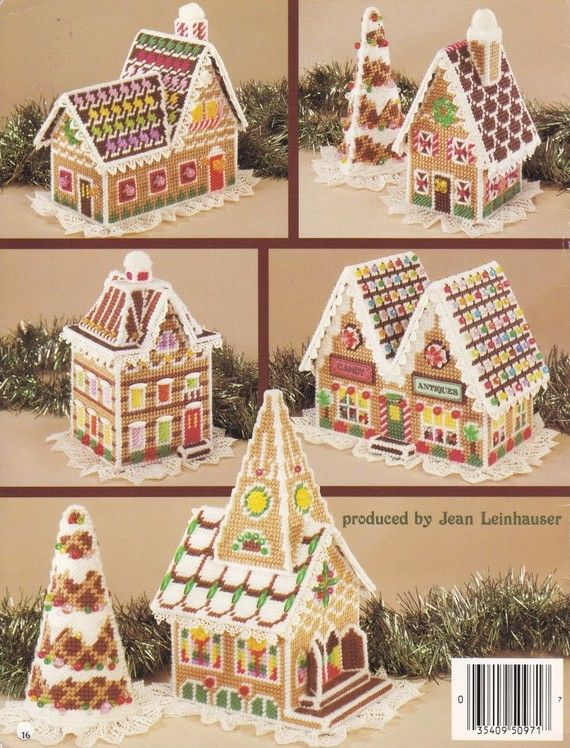 Gingerbread Village Plastic Canvas Pattern Book by PaperButtercup
