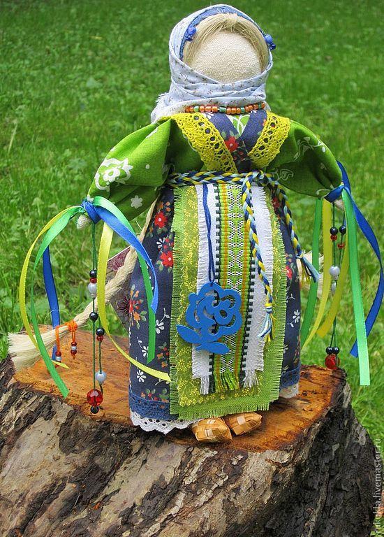 Купить Желанница - зеленый, желтый цвет, народная кукла, народный стиль, народная традиция