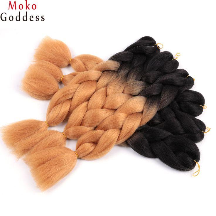 60 Colors to choose ombre kanekalon braiding hair
