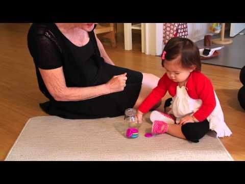 A 12 month old's first day in a Montessori classroom - YouTube