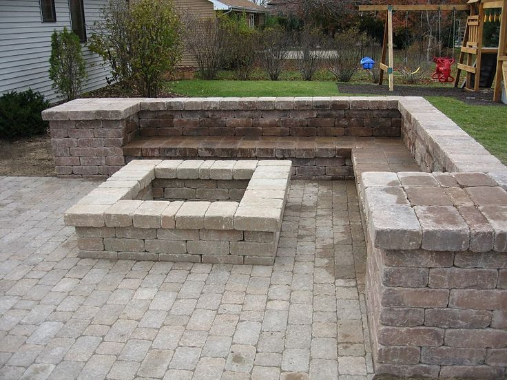 Fire Pit Designs | This Fire Pit And Sitting Bench Were Created With Weston  Wall Block