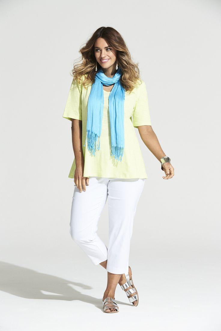 Tutti Frutti Tee in Lime  #mysize #plussize #fashion #plussizefashion #summer #newarrivals #outfit