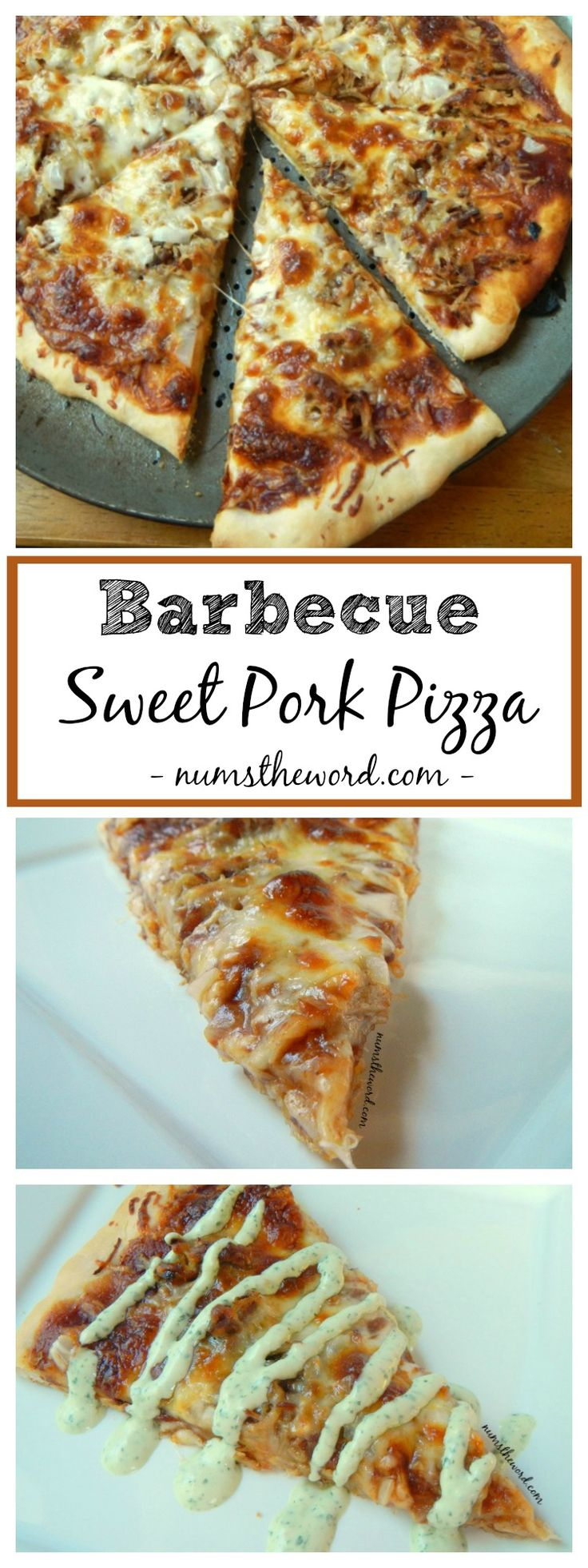 Barbecue Sweet Pork Pizza is a kid friendly easy meal everyone will love. This pizza crust takes only 15 minutes to make and the pizza is a great way to use up leftover pulled pork!
