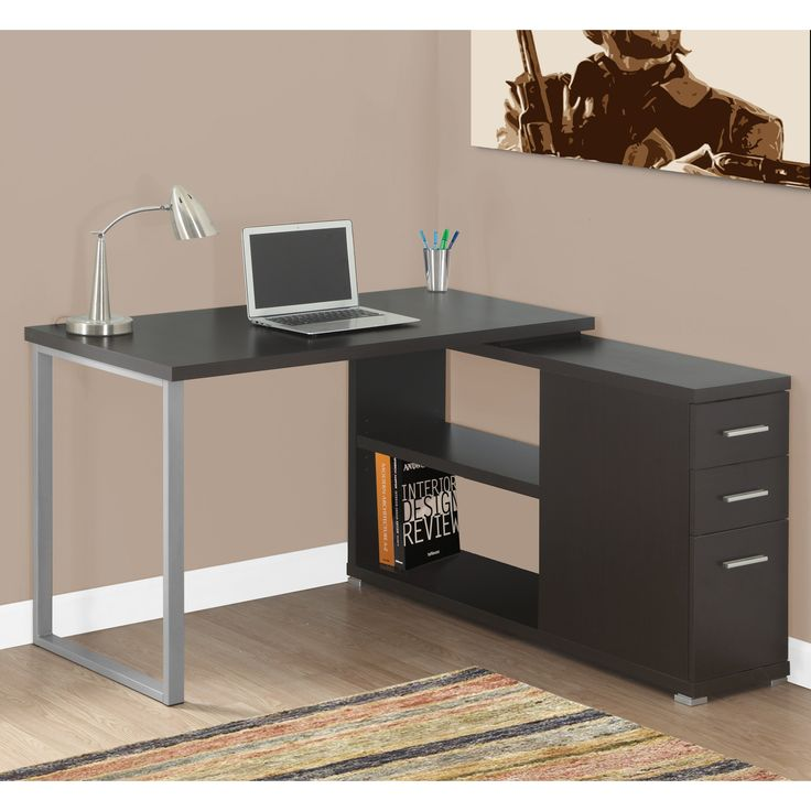coffee l shaped both corner adjustable most sides drawers on brilliant desk height monarch with computer specialities maker specialties