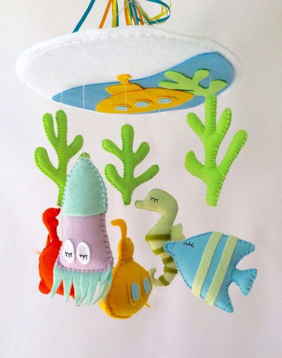 Sea nursery room - Nursery Mobile - Baby Mobile - Nursery Crib Mobile by LaPetiteMelina