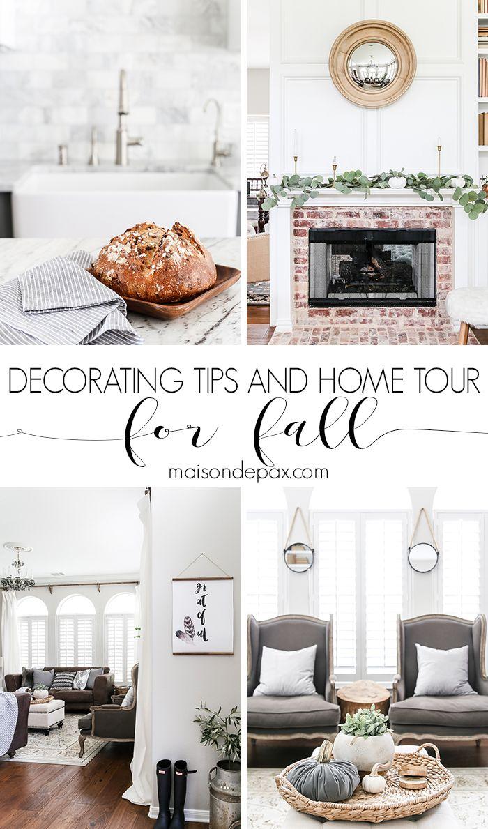 fall home tour and decorating tips #falldecor