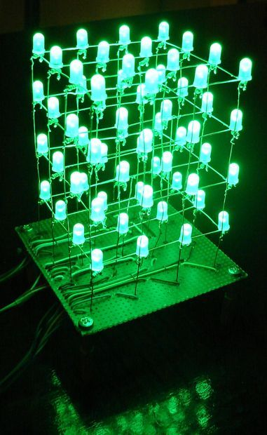 Picture of The 4x4x4 LED cube (Arduino)