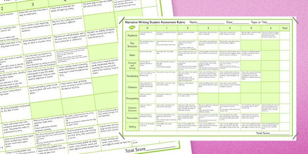 Narrative Writing Student Assessment Rubric