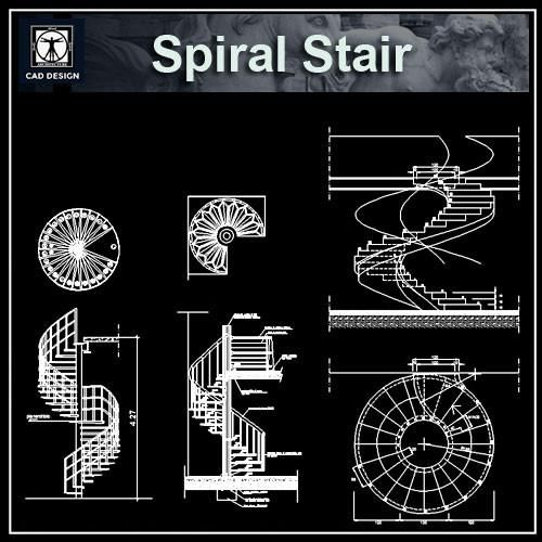 1213 best autocad details images on pinterest cad for Spiral staircase dwg