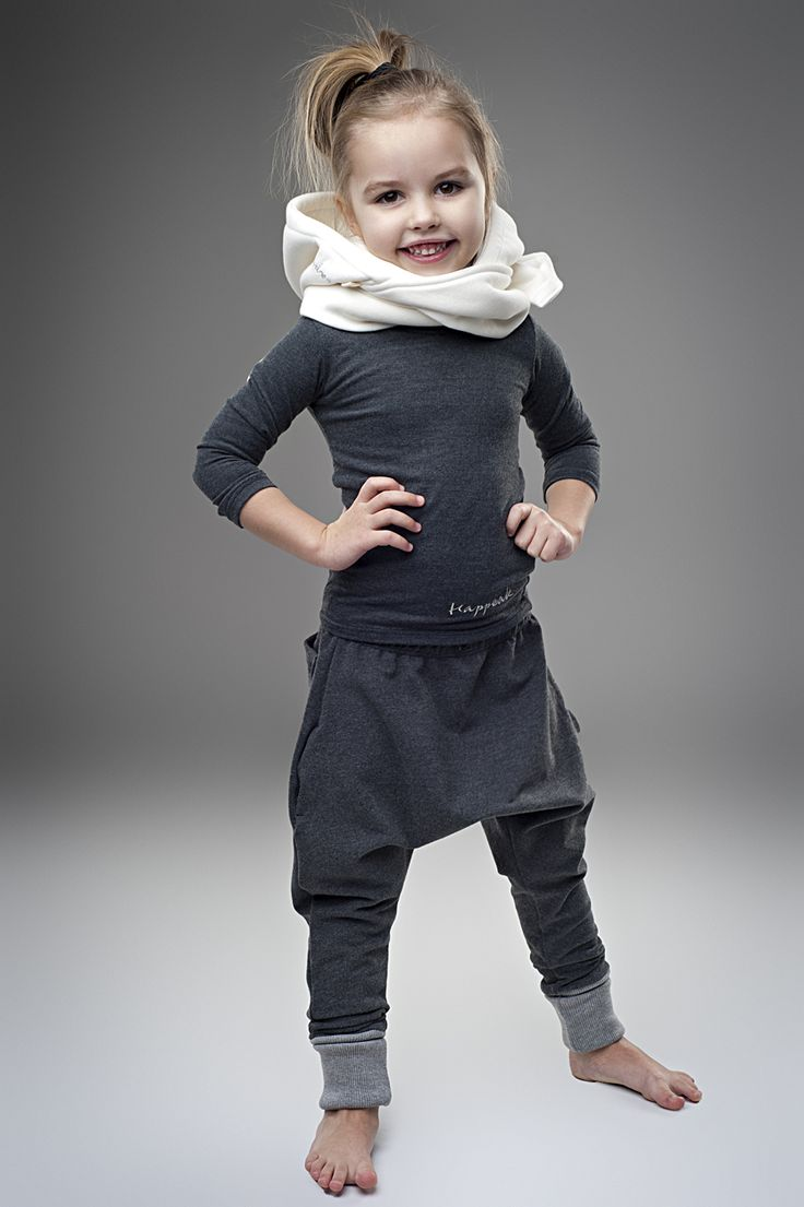 grey sarouel sweat pants outfit for kids - dead link but really cute inspirational picture