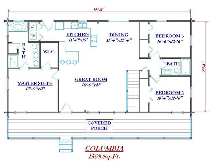 Ordinary Horizontal House Plans #6: Small Log Cabin Floor Plans ...