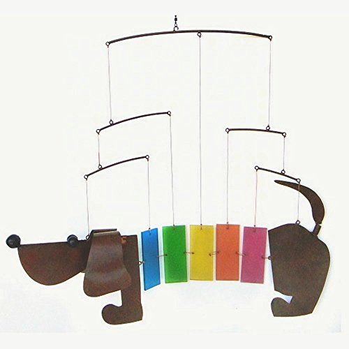 Chimes  Gift Essentials Rainbow Dachsie Mobile Outdoor Décor -- This is an Amazon Associate's Pin. Find similar products on the website by clicking the VISIT button.