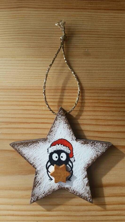 Addobbo natalizio dipinto di IsolaSospesa su Etsy