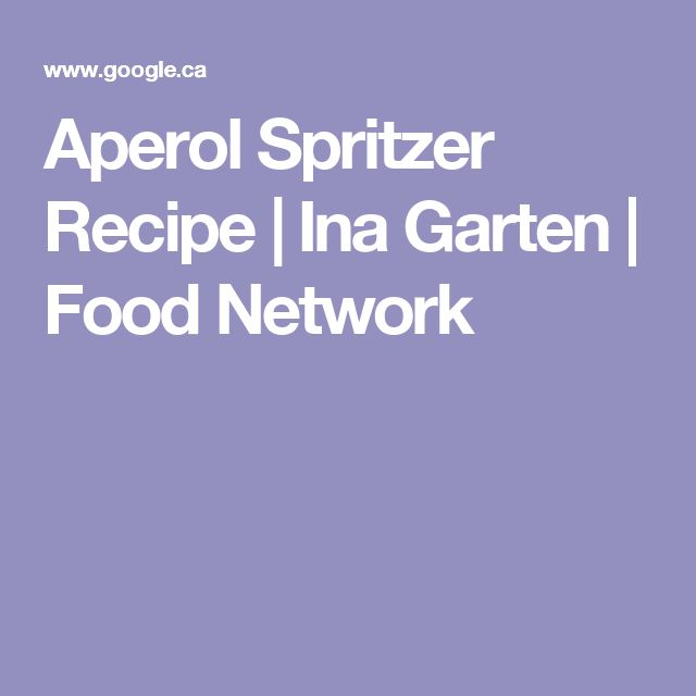 Aperol Spritzer Recipe | Ina Garten | Food Network