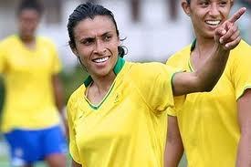 melhor jogadora de futebol feminino ever! Marta, Brasil!
