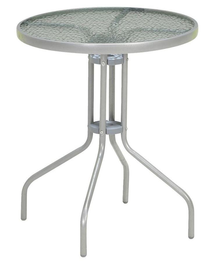 Asztal PORTO átm60cm acél/üveg a JYSKnél. Asztal