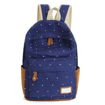 Buy Dot Printing Students School Bags Women Canvas Backpack +Blue online at Lazada. Discount prices and promotional sale on all. Free Shipping.