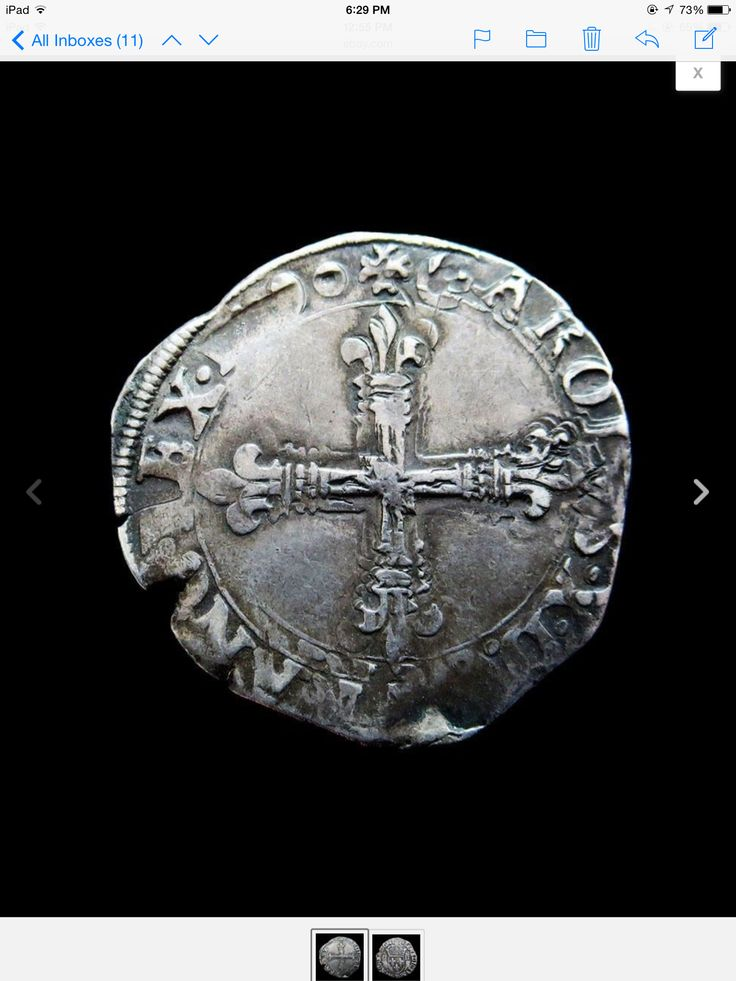 1592 T Renaissance Silver Henry Iv Coinage Medieval