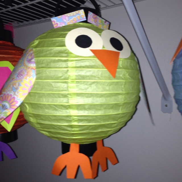 Owl paper lanterns ... Owl crafts More owl crafts in my board!