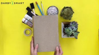 How to Turn a Book into a Succulent Planter