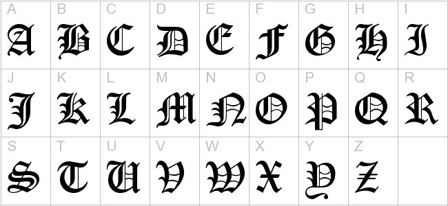 Free encient german gothic font calligraphy fonts