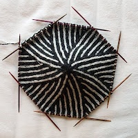 """britt-marie christoffersson knitting - I was in complete """"aw"""" of this two color hat on so many double points. And then I clicked on the pin. Holy Knitting, Batman! This guy can KNIT! Amazing Swedish knitter and cool blog."""