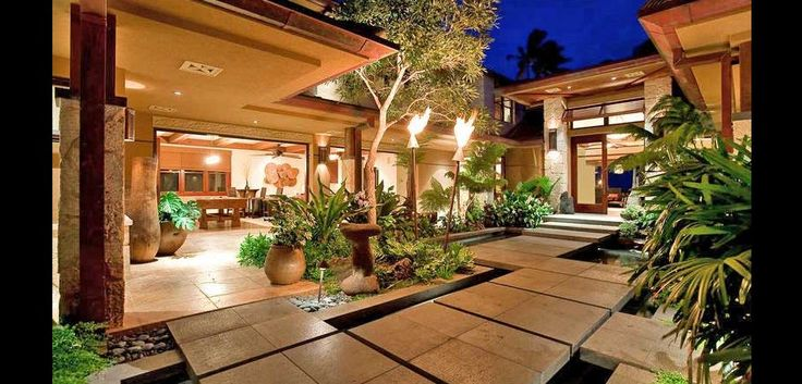 The banyan house is a luxury home in hawaii favorite luxury homes pinterest oahu hawaii for Houses for rent in hawaiian gardens