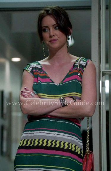 """90210 Style & Fashion: Jessica Stroup sports a super cute Monrow Printed Peruvian Maxi Dress on Episode 23 """"A Tale of Two Parties"""" of """"90210"""" Season 4."""