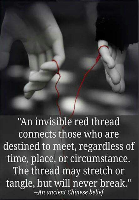 Curious Chinese saying:  An invisible thread...