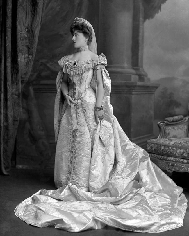 Agnes, Baroness de Stoeckl in Russian imperial court dress