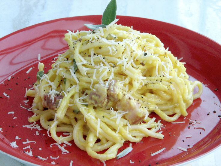 Retete culinare : Spaghete Carbonara, Reteta postata de Ela68 in categoria Spaghete