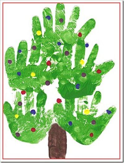Christmas Tree Handprint - real handmade :):)