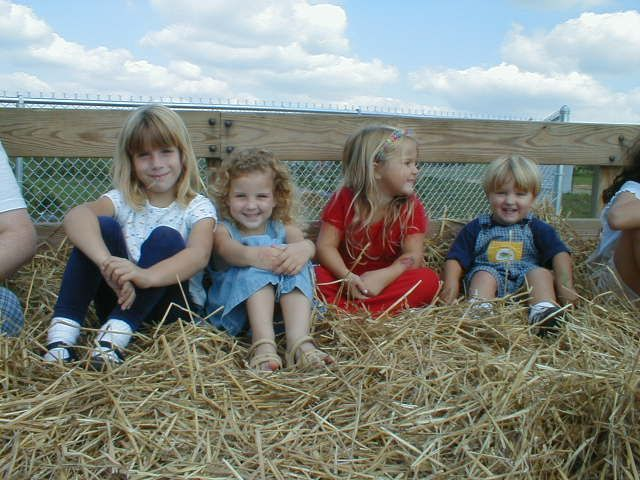 Hayride through the orchard with our friends!  What better way to celebrate a birthday!